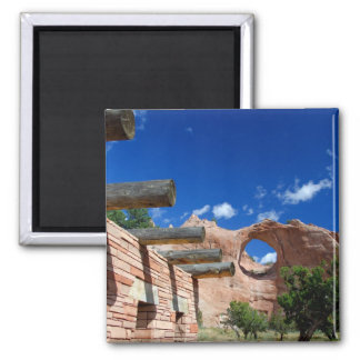 Arizona, Window Rock. Capital of the Navajo 2 Inch Square Magnet