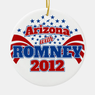 Arizona with Romney 2012 Ceramic Ornament