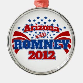 Arizona with Romney 2012 Metal Ornament