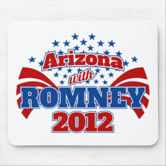 Arizona with Romney 2012 Mouse Pad