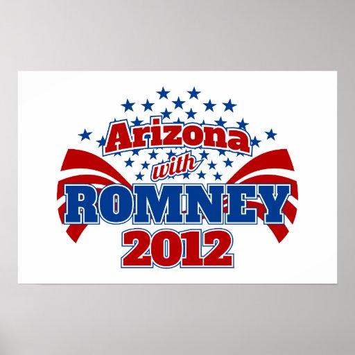 Arizona with Romney 2012 Poster