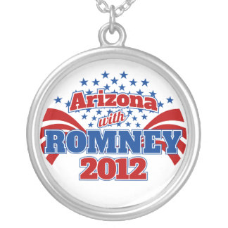Arizona with Romney 2012 Silver Plated Necklace