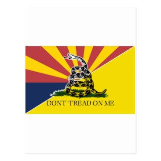 Arizona y bandera de Gadsden Tarjeta Postal