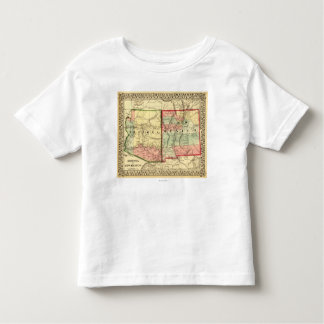 Arizona y nuevo mapa de MexicoPanoramic T Shirt