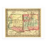 Arizona y nuevo mapa de MexicoPanoramic Tarjeta Postal