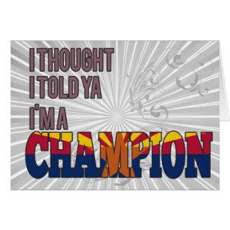 Arizonan and a Champion Greeting Card