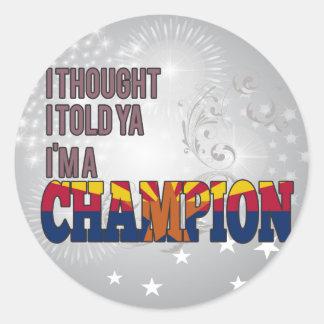 Arizonan and a Champion Classic Round Sticker