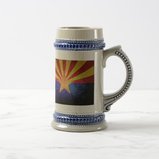 Arizonan Flag 18 Oz Beer Stein
