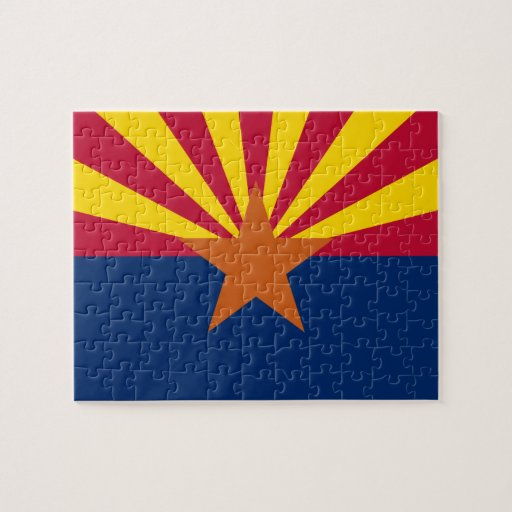 Arizonan Flag Jigsaw Puzzle