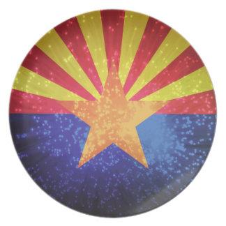Arizonan Flag Melamine Plate