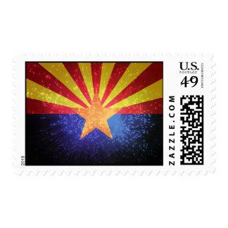 Arizonan Flag Postage Stamp