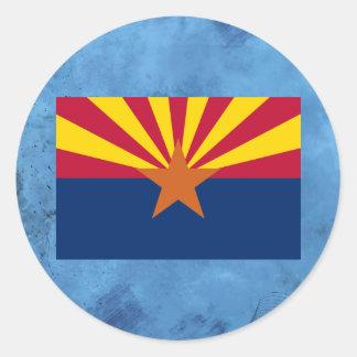 Arizonan flag classic round sticker
