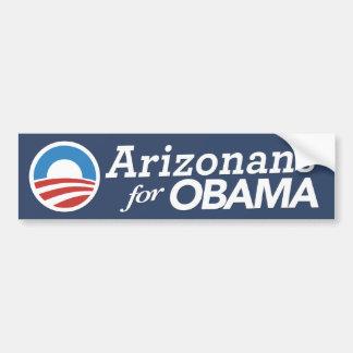 Arizonans For Obama Bumper Sticker (CUSTOM COLOR) Car Bumper Sticker