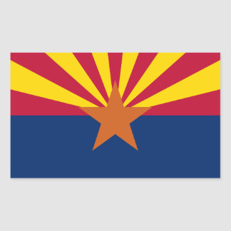 Arizona's Flag Rectangular Sticker