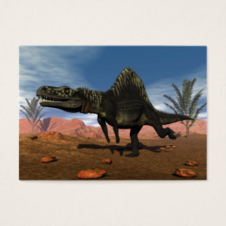 Arizonasaurus dinosaur in the desert business card