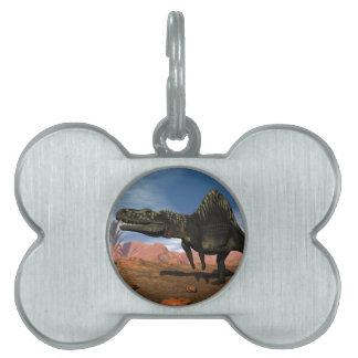 Arizonasaurus dinosaur in the desert pet tag