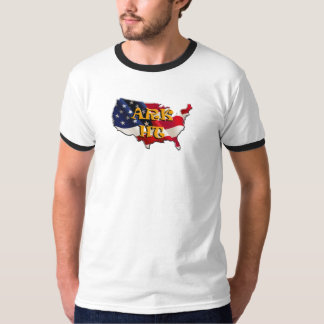 ARK HT the USA map&flag T-Shirt