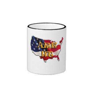 ARK HT USA map&flag Mug Taza De Dos Colores
