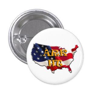 ARK HT USA map&flag Pin Redondo De 1 Pulgada