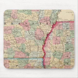 Ark, Miss, La Map by Mitchell Mouse Pad
