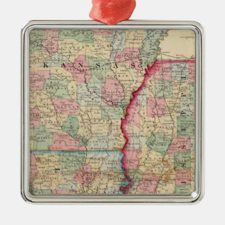 Ark, Miss, La Map by Mitchell Christmas Tree Ornaments
