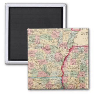 Ark, Miss, La Map by Mitchell Refrigerator Magnets