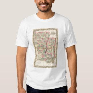 Ark, Miss, La Map by Mitchell T Shirt