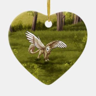 Arkaen - Barn Owl Gryphon Ceramic Ornament