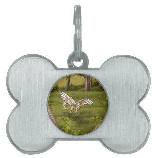 Arkaen - Barn Owl Gryphon Pet ID Tag