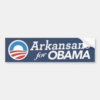 Arkansans For Obama Bumper Sticker (CUSTOM COLOR)