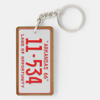 Arkansas 1966 Vintage License Plate Keychain Acrylic Keychain