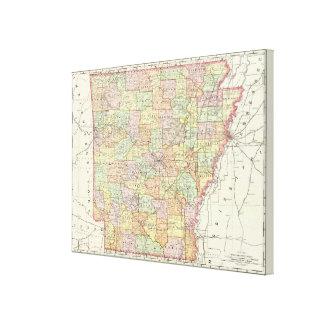 Arkansas 3 impresiones de lienzo