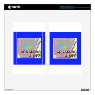 """""""Arkansas 4 Life"""" State Map Pride Design Decal For Kindle Fire"""