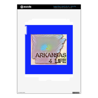 """Arkansas 4 Life"" State Map Pride Design Decals For iPad 3"