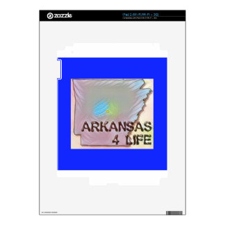 """""""Arkansas 4 Life"""" State Map Pride Design Decals For The iPad 2"""