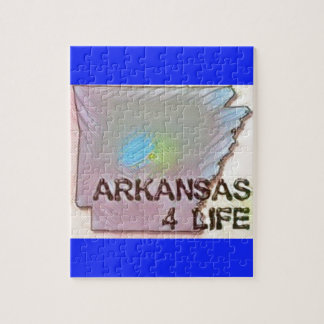 """Arkansas 4 Life"" State Map Pride Design Jigsaw Puzzle"