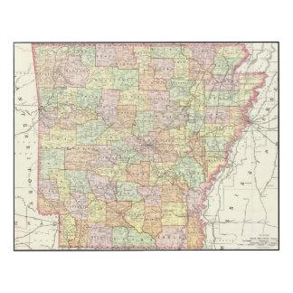 Arkansas 6 impresión en madera