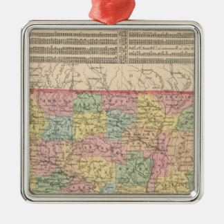 Arkansas 6 metal ornament