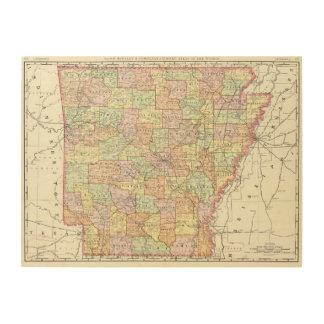 Arkansas 6 wood print