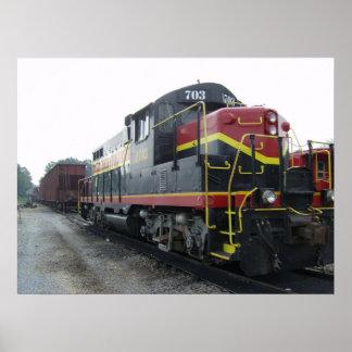 Arkansas and Midland Railroad Locomotive Poster