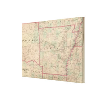 Arkansas and portion of Indian Territory Canvas Print