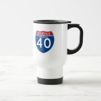 Arkansas AR I-40 Interstate Highway Shield - Travel Mug