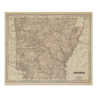 Arkansas Atlas Map Posters