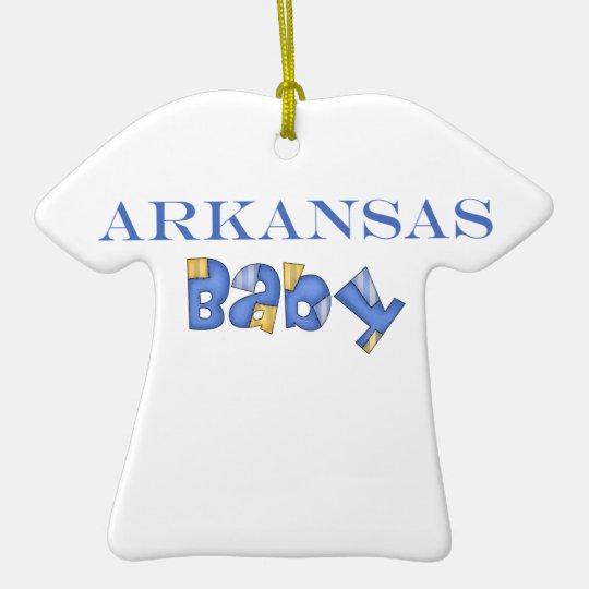 Arkansas Baby (Blue) Ceramic Ornament