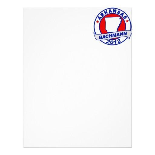 Arkansas Bachmann Customized Letterhead
