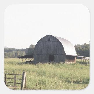 Arkansas Barn and Farmland Square Sticker