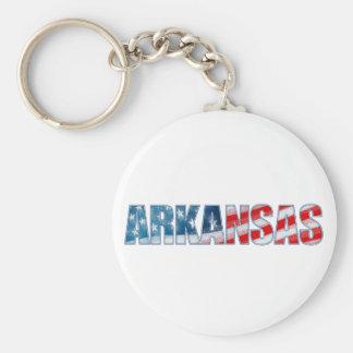 Arkansas Basic Round Button Keychain