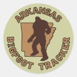 Arkansas Bigfoot Tracker Classic Round Sticker