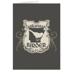 Greeting Card with Arkansas Birder design