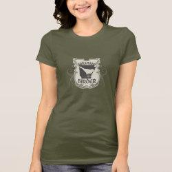 Women's Bella Jersey T-Shirt with Arkansas Birder design